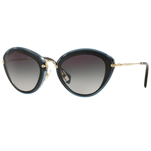 3b60e54c6c7 Miu Miu Sunglasses Black Grey w Grey Lens